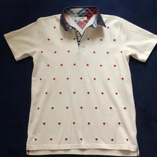 トミー(TOMMY)のTOMMY  ハート刺繍ポロシャツ メンズMサイズ(ポロシャツ)