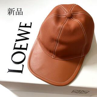 ロエベ(LOEWE)の新品 LOEWE ロエベ レザー ベースボール キャップ 帽子 ハット(キャップ)