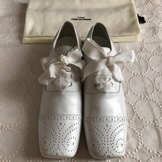 コムデギャルソン(COMME des GARCONS)のトリココムデギャルソン シューズ レザーレースアップ スクエアトゥ 22.5(ローファー/革靴)