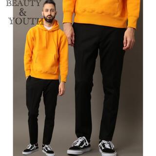 BEAUTY&YOUTH スラックス ノープリーツ メンズ ブラック パンツ