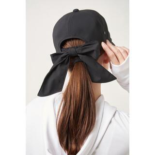 yori ☆リボンキャップ 帽子 ヨリ ブラック(キャップ)