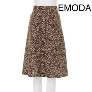 エモダ(EMODA)のEMODA レオパード スカート(ロングスカート)