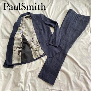 ポールスミス(Paul Smith)の☆美品 ポールスミス ブラック スーツ セットアップ 大きいサイズ 花柄 紺(スーツ)