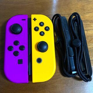 ニンテンドースイッチ(Nintendo Switch)のNintendo Switch ジョイコン ネオンパープル、オレンジ ジャンク品(その他)