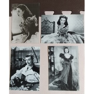 「風と共に去りぬ」 ビビアン・リー  クラーク・ゲーブル 未使用ポストカード(印刷物)