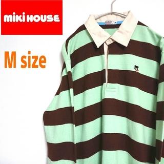 ミキハウス(mikihouse)のmikihouse ミキハウス ダブルビー  ラガーシャツ 2色ボーダー柄(ポロシャツ)