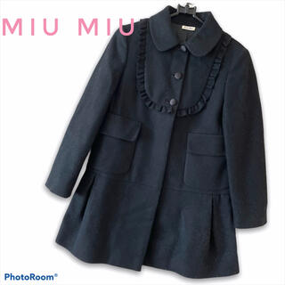 miumiu - 《MIU MIU》イタリア製 ガーリー ウールコート ブラック 定価30万