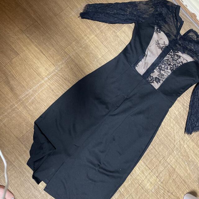 ドレス キャバドレス パーティードレス S size  ベージュ ブラック  レディースのフォーマル/ドレス(ミニドレス)の商品写真