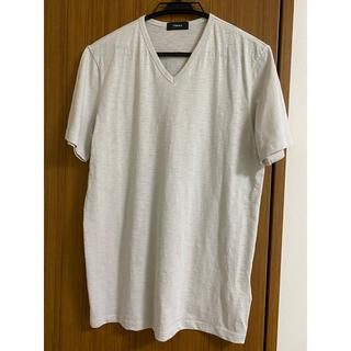 セオリー(theory)の【未使用:Theory】メンズ Vネック ライトグレーTシャツ(Tシャツ/カットソー(半袖/袖なし))
