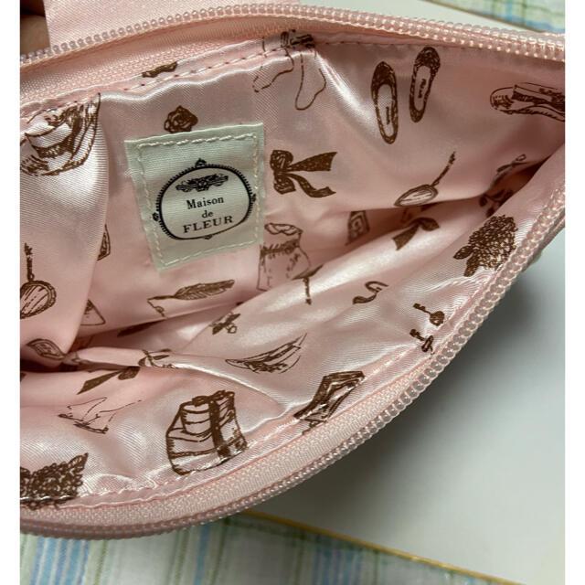 Maison de FLEUR(メゾンドフルール)のMaison de FLEURリボンポーチクラッチバック&花ポーチセット美品❣️ レディースのバッグ(クラッチバッグ)の商品写真