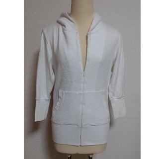 ダブルスタンダードクロージング(DOUBLE STANDARD CLOTHING)のDOUBLESTANDARD 白パーカー(パーカー)