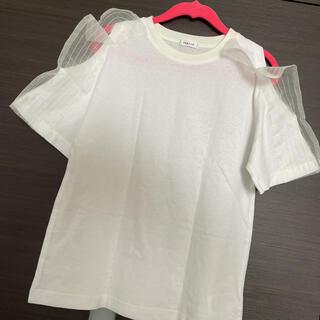 フレイアイディー(FRAY I.D)の新品タグ付 フレイアイディー オープンショルダー Tシャツ 白T(Tシャツ(半袖/袖なし))