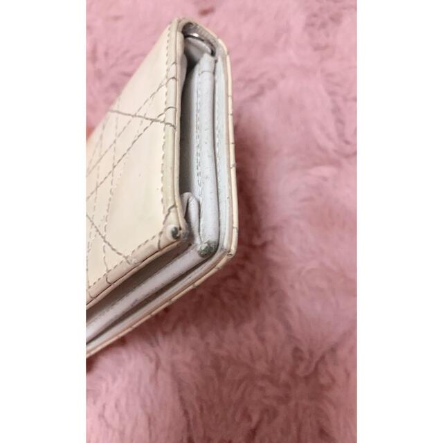 Christian Dior(クリスチャンディオール)のクリスチャンディオール 確実正規品 dior 名刺入れ ホワイト エナメル レディースのファッション小物(名刺入れ/定期入れ)の商品写真