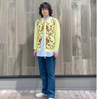 ジョンローレンスサリバン(JOHN LAWRENCE SULLIVAN)のTTT MSW 21SS  Persia knit polo Lサイズ 黄色(ニット/セーター)