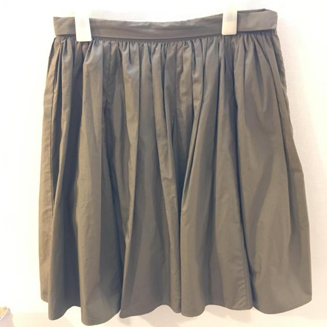 Demi-Luxe BEAMS(デミルクスビームス)のDemi-Luxe BEAMS コットンギャザースカート レディースのスカート(ひざ丈スカート)の商品写真