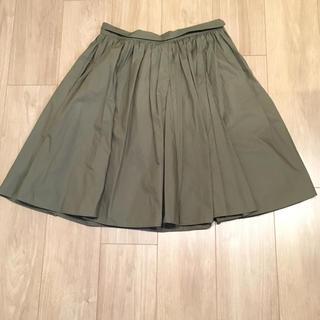 デミルクスビームス(Demi-Luxe BEAMS)のDemi-Luxe BEAMS コットンギャザースカート(ひざ丈スカート)