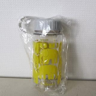 【新品未使用】 水筒 プラスチックボトル ゾウ 黄色 透明(タンブラー)