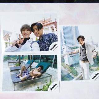 ジャニーズ(Johnny's)のSnowMan 目黒蓮 向井康二 公式写真 3枚セット タイオフショ(アイドルグッズ)