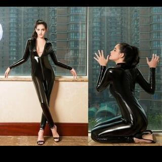 新品未使用 女性エナメル キャットスーツ 高品質(衣装一式)