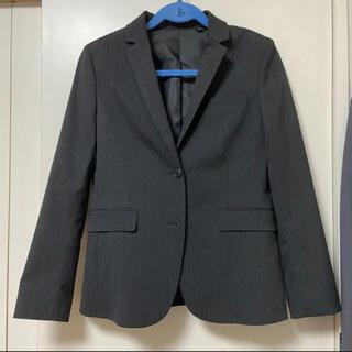 ユニクロ(UNIQLO)のユニクロ スーツ ジャケット チャコールグレー ストライプ(スーツ)