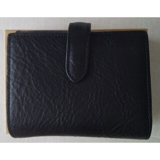 ムジルシリョウヒン(MUJI (無印良品))の無印良品 ヌメシュリンク革 二つ折財布 黒(財布)