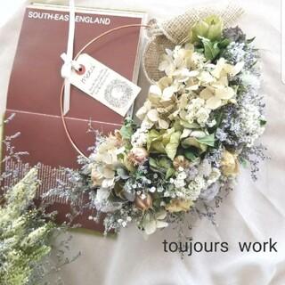 ◆ドライフラワーリース◇natural summer◇プレゼント(リース)