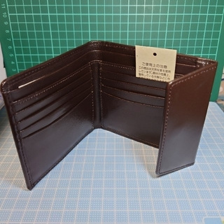 ムジルシリョウヒン(MUJI (無印良品))の【新品】牛革・二つ折り財布(ホックロック付き・ブラウン)(折り財布)