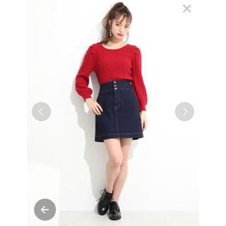 NICE CLAUP - デニムスカート 台形スカート ミニスカート