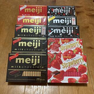 明治 meiji チョコレート ブラック ストロベリー ハイミルク(菓子/デザート)