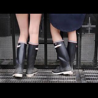 メゾンキツネ(MAISON KITSUNE')のAIGLE × maison kitsune メゾンキツネ レインブーツ 39(レインブーツ/長靴)