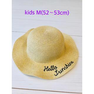 グローバルワーク(GLOBAL WORK)の美品 グローバルワーク キッズ 帽子 M(52〜53cm)(帽子)