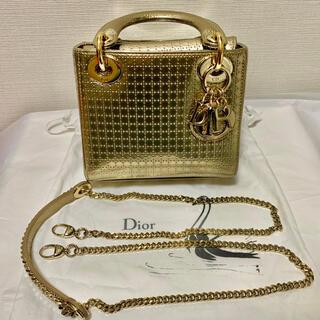 クリスチャンディオール(Christian Dior)のLady Dior mini レディディオール ミニ 美品(ハンドバッグ)