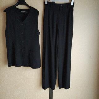 ロキエ(Lochie)のvintage ロングジレ パンツスーツ 黒(スーツ)