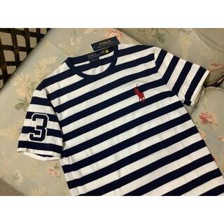 ラルフローレン(Ralph Lauren)の新品☆ラルフローレン Tシャツ ビッグポニー 紺&白 ボーダー US S(Tシャツ/カットソー(半袖/袖なし))
