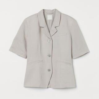 エイチアンドエム(H&M)のリネン 半袖ジャケット ジャケット(テーラードジャケット)