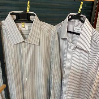 ブルネロクチネリ(BRUNELLO CUCINELLI)のBrioni ドレスシャツ メンズ クリーニング済み 2枚セット ワイシャツ(シャツ)