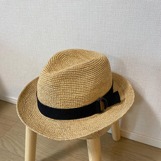 ムジルシリョウヒン(MUJI (無印良品))の無印良品 ラフィアたためる中折れ帽子(ハット)