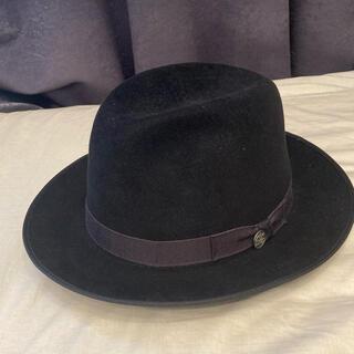 Borsalino - STETSON HAT ハット フェルト ジョニーデップ ネイビー 帽子