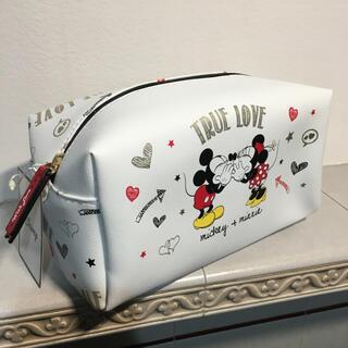 ディズニー(Disney)の日本未発売 ディズニー ミッキー&ミニー スクエアポーチ ※1点のみ(ポーチ)