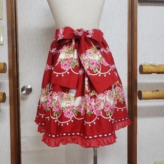 ボディライン(BODYLINE)のBODY LINEロリータスカート 薔薇と宝石箱 未使用(ひざ丈スカート)