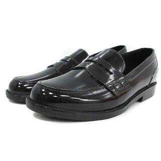 イエナスローブ(IENA SLOBE)のイエナ スローブ ローファー レインシューズ シューズ L 24cm 黒(ローファー/革靴)