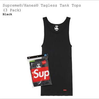 シュプリーム(Supreme)のステッカー付き☆supreme Hanes  tank top1枚(タンクトップ)