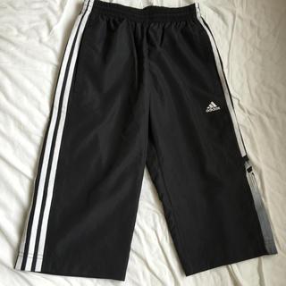 アディダス(adidas)のアディダス adidas ジャージズボン 160 ブラックxホワイト 美品(パンツ/スパッツ)