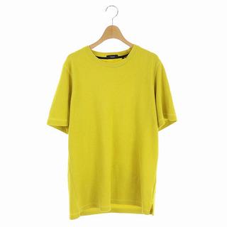 セオリー(theory)のセオリー Tシャツ 半袖 パイルクルーネック S 黄色 イエロー(Tシャツ/カットソー(半袖/袖なし))