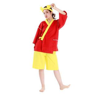 ディズニー(Disney)のDisney ディズニー プーさん pooh 甚平 ハチマキ付き なりきり 浴衣(浴衣)