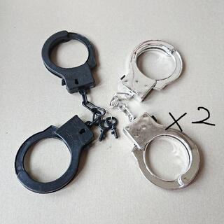手錠(黒+銀)*2(小道具)