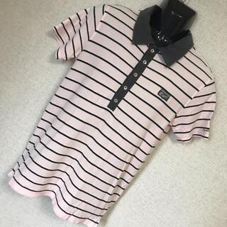 オニツカタイガー(Onitsuka Tiger)のOnitsuka Tiger オニツカタイガー ロゴ ボーダー ポロシャツ M(ポロシャツ)