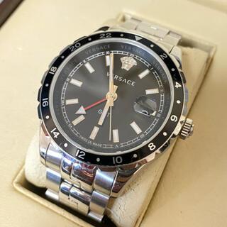 ジャンニヴェルサーチ(Gianni Versace)のヴェルサーチェ VERSACE HELLENYIUM 腕時計 クォーツ ブラック(腕時計(アナログ))