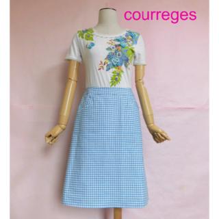 クレージュ(Courreges)の【クレージュ/courreges】ギンガムチェックスカート(ひざ丈スカート)