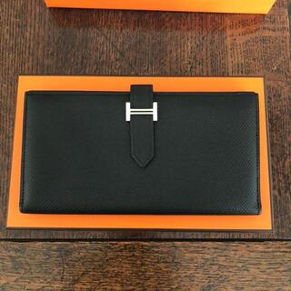 Hermes - 超極美品‼️☆【長財布】ベアン エルメス ブラック 正規品